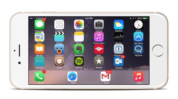 SBRotator for 8 - горизонтальный режим на домашнем экране и стандартных iOS-приложениях