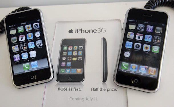 черный фон в iPhone 2g
