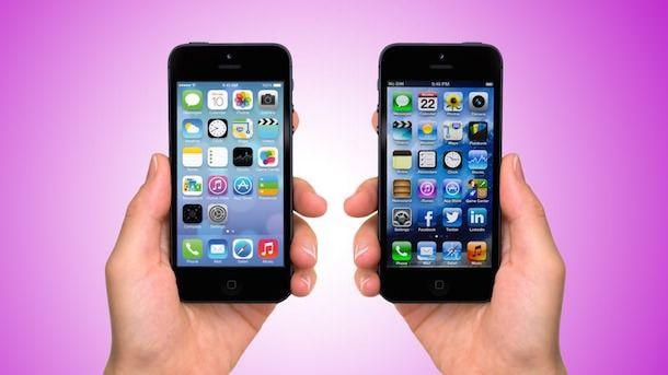 Домашние экраны в iOS 7 и iOS 6