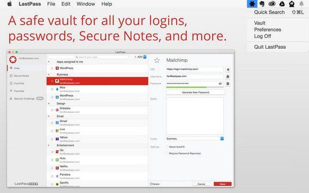 LastPass для Mac OS X