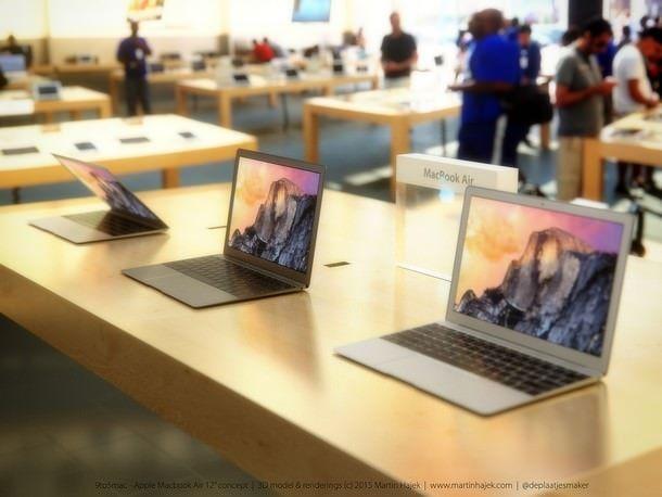 Концепт 12-дюймового MacBook Air от Мартина Хайека