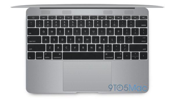 Новый MacBook Air вид сверху