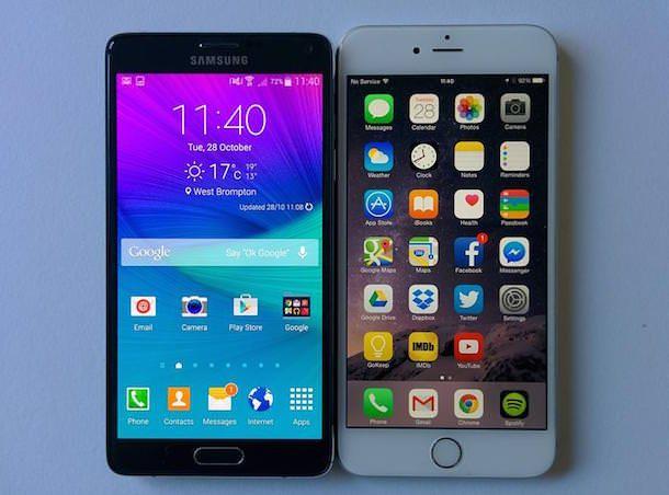Galaxy Note 4 и iPhone 6 Plus