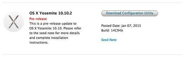 Apple выпустила OS X Yosemite 10.10.2 beta 4