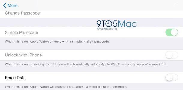 пароль на Watch