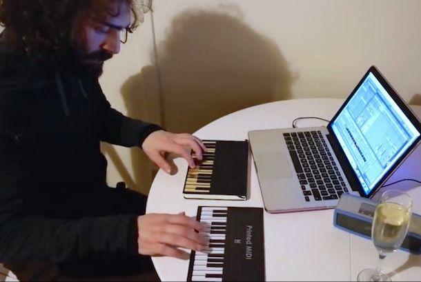 напечатанная midi клавиатура