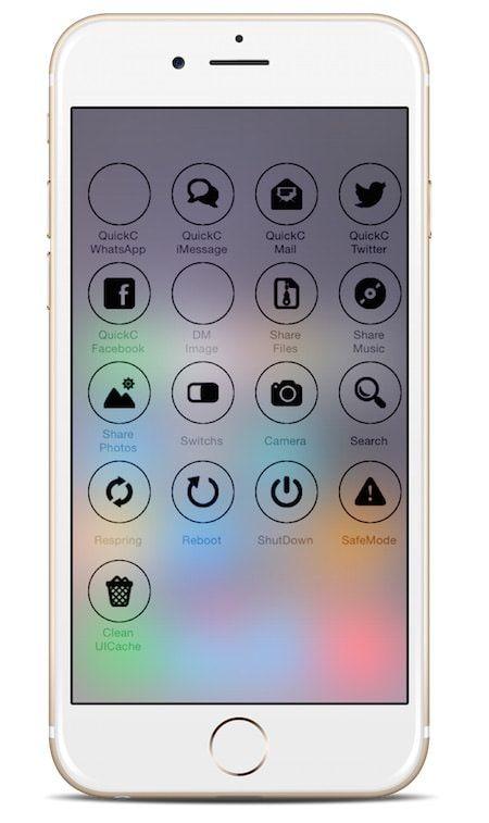 Твик Aoraki быстрый доступ к часто используемым функциям iPhone и iPad