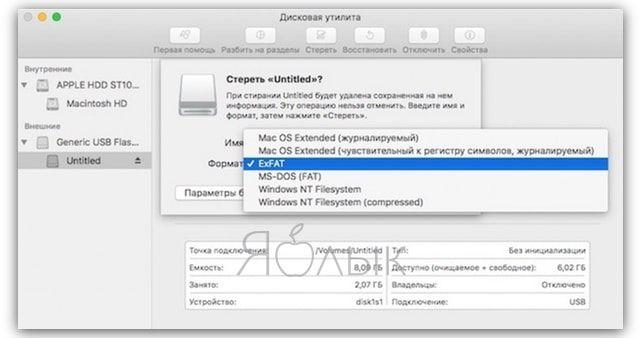 Как скопировать файлы на USB-флешку с Mac (macOS)