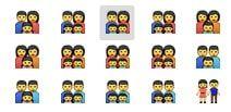 Emoji семья