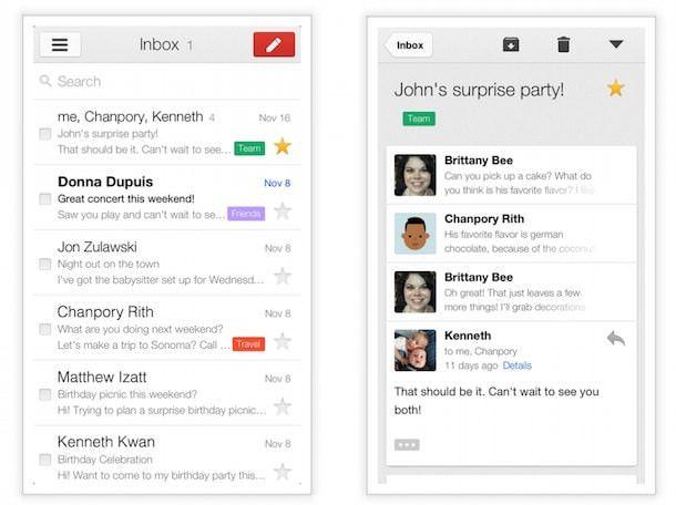 Приложение Gmail для iOS
