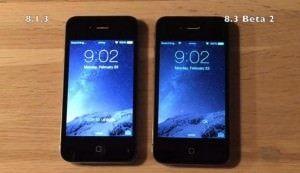 Тест на производительность iOS 8.3 beta 2 и iOS 8.1.3