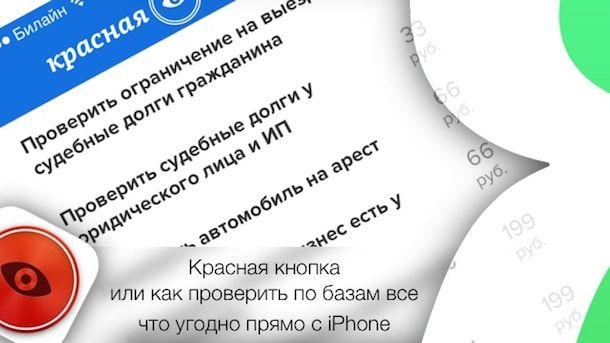Красная кнопка или как проверить по базам все что угодно прямо с iPhone