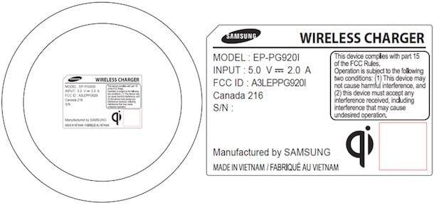 беспроводная зарядка Samsung Galaxy S6