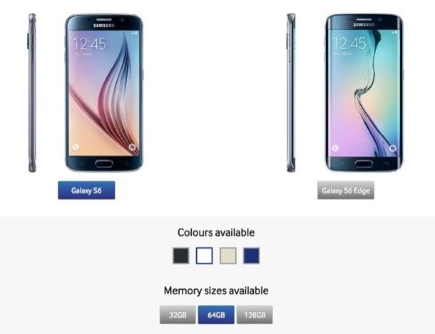 Galaxy S6 - 32 Гб встроенной памяти