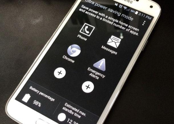 Galaxy S6 Ultra Power Saving Mode