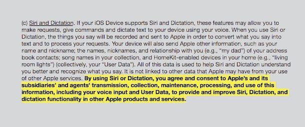 Конфиденциальность Siri