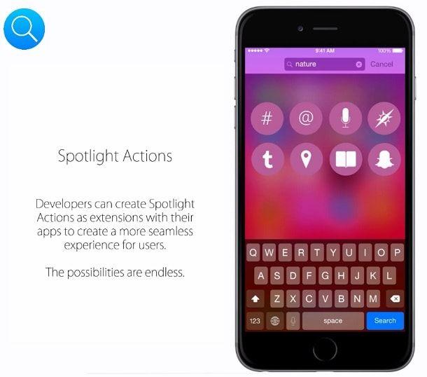 Концепт iOS 9 поиск