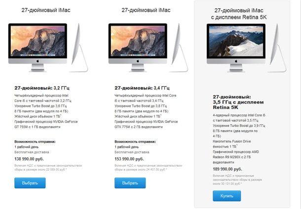 iMac и Mac mini, сравнение