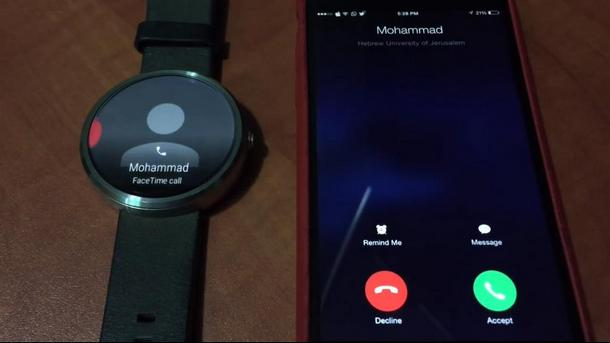 iPhone и Moto 360
