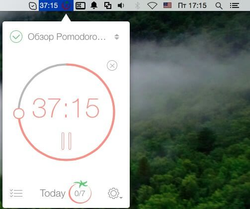 Программа Pomodoro Time для Mac и iPhone iPad-1