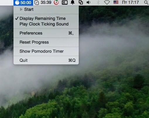 Программа Pomodoro Time для Mac и iPhone iPad-2