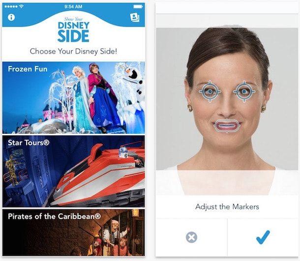Show Your Disney Side для iPhone - анимированное селфи в образе диснеевских персонажей