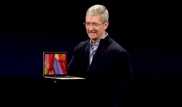 Тим Кук представляет новый MacBook