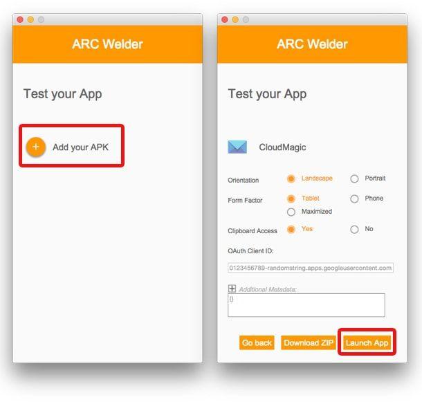 ARC Welder, Google Chrome