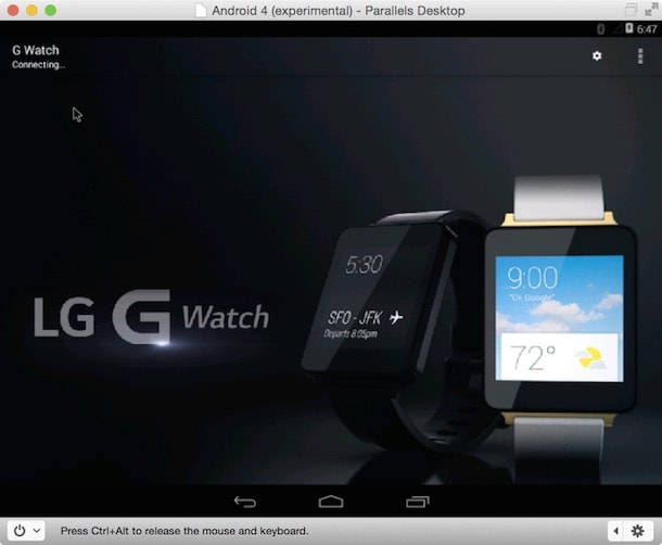 Android Wear LG G Watch Mac