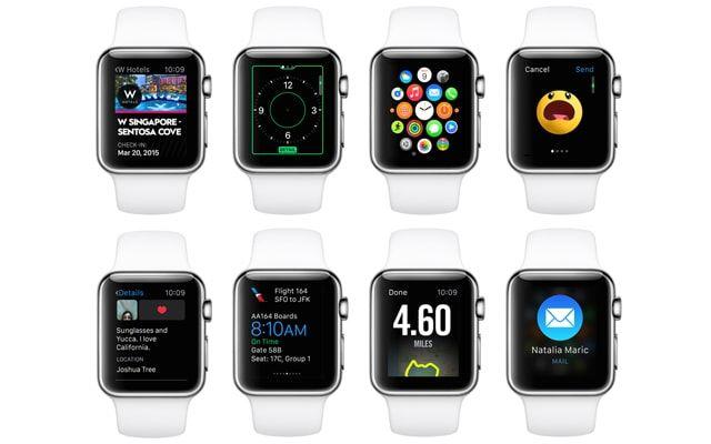 Apple Watch, приложения, интерфейс