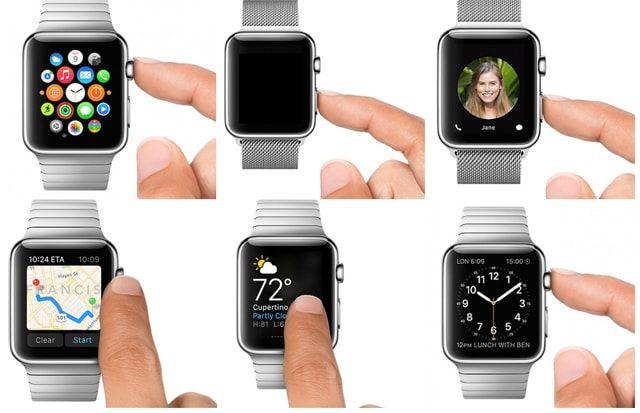 Apple Watch, кнопки