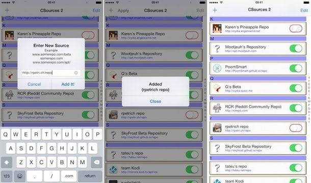 CSources2, твики для iOS 8