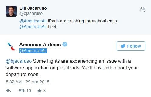 American Airlines, iPad