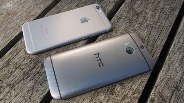 iPhone 6 против HTC One M9, краш-тест