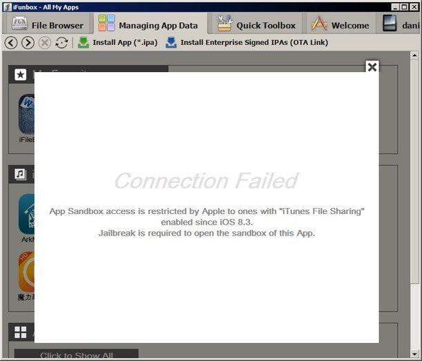 В iOS 8.3 Apple ограничила доступ к устройствам сторонним файловым менеджерам