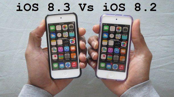 iOS 8.2 и iOS 8.3