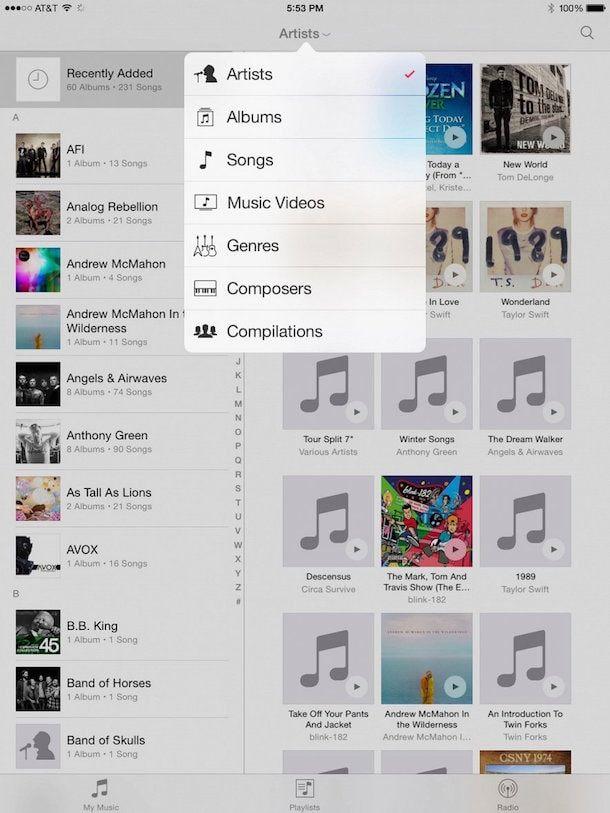 ios 8.4 для iPad с новым приложением Музыка
