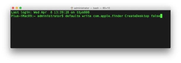 Как скрыть иконки рабочего стола в OS X