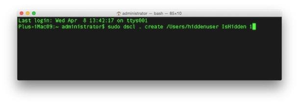 Как убрать пользователя с экрана входа в OS X