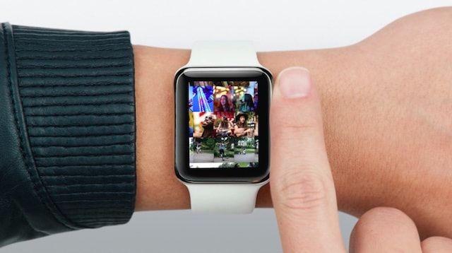 Фото на часах Apple Watch