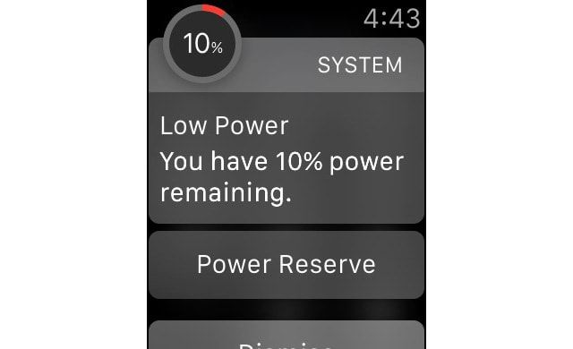 Apple Watch, Power Reserve