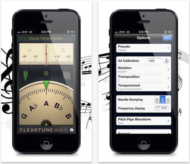 Cleartune Chromatic Tuner iphone ipad