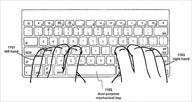 Apple, клавиатура, патент