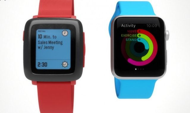 Pebble vs Apple Watch