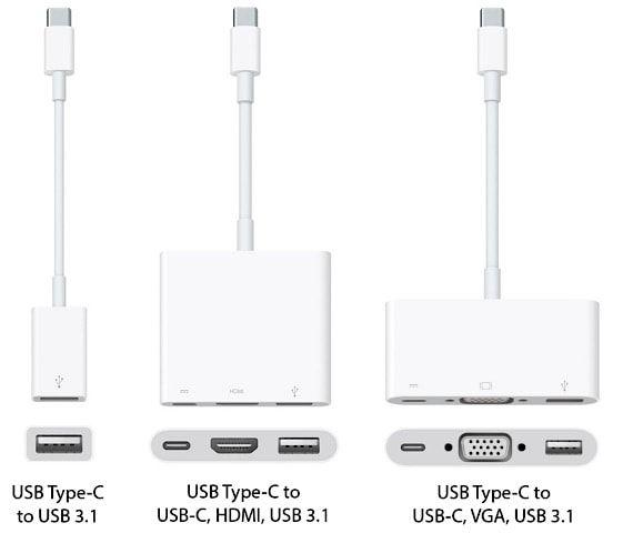 все адаптеры для Macbook 2015