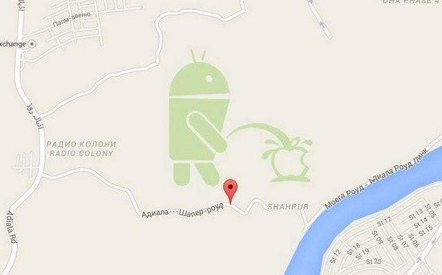 Изображение в карте Google