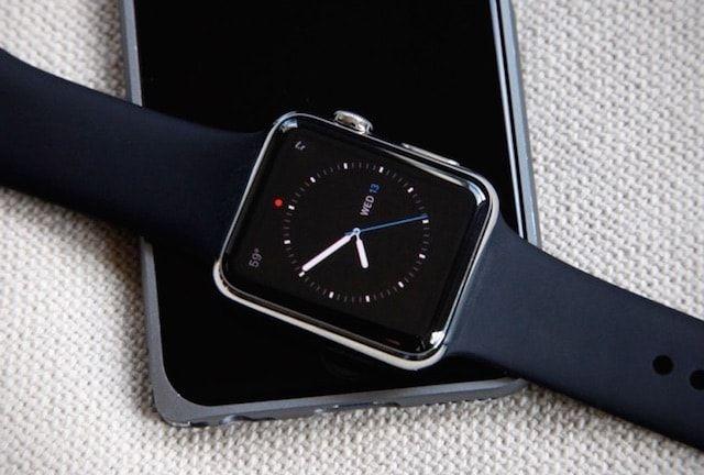 красная точка на apple watch - уведомления