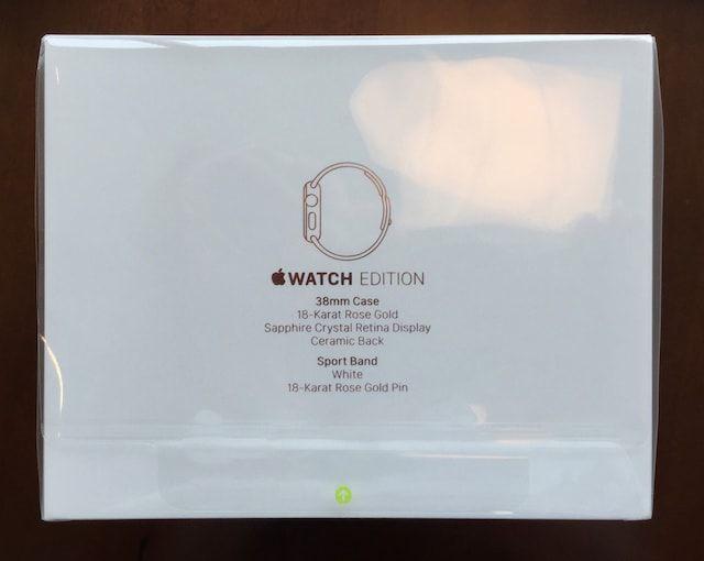 коробка для золотых часов Apple Watch Edition