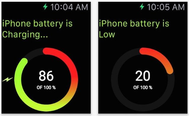 Как проверять заряд батареи iPhone через Apple Watch