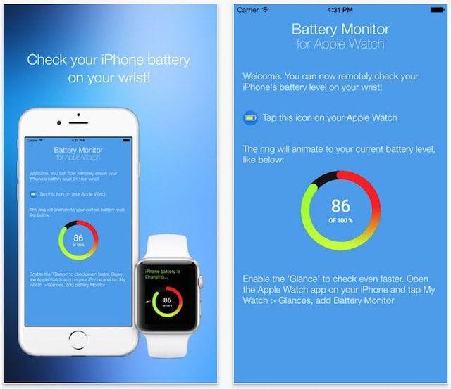 Как проверить заряд батареи iPhone через Apple Watch